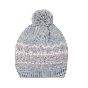 NWT H&M Knit Patterned Gray Hat 3-4Y